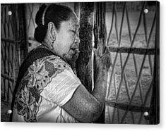 Maya Woman Acrylic Print by Andrew Xenios