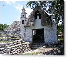 Mayan Chapel Acrylic Print by Diane Ferguson