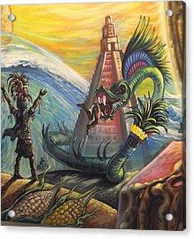 Mayan Predictions 2012 Acrylic Print by Joe Santana