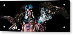 Mayan Spirit Acrylic Print by Elizabeth Hart