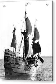 Mayflower II, Plymouth Harbor Acrylic Print by Everett