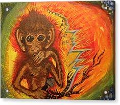 Mc Monkey Acrylic Print by Zitlalli Rodriguez