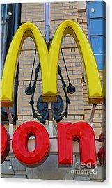 Mcdonalds Hamburger Restaurant . Fishermans Wharf . San Francisco California . 7d14250 Acrylic Print by Wingsdomain Art and Photography