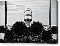 Mcdonnel Douglas F-15 Back View Acrylic Print by Marta Holka