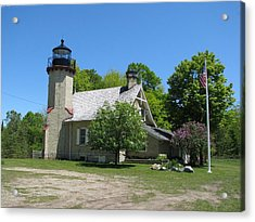Mcgulpin Point Light After Acrylic Print by Keith Stokes