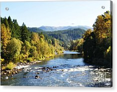 Mckenzie River  Acrylic Print by Mindy Bench