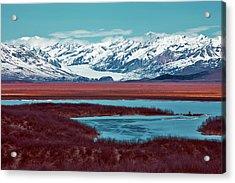 Mclaren Glacier Acrylic Print by Rick Berk