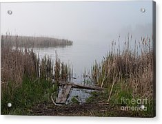 Mclaughlin Bay In The Fog At The Shore Acrylic Print by Gary Chapple
