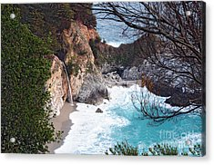 Mcway Falls In Spring Acrylic Print