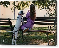 Acrylic Print featuring the photograph Me And A Dog Named Spot by Tanya Tanski