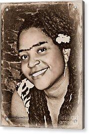 Me As Frida Acrylic Print by Fania Simon