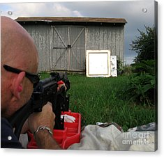 Me Shooting 'the World Is Yours' See Description Acrylic Print