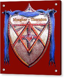 Meagher-thornton Family Crest Acrylic Print by Ahonu