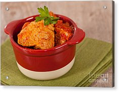 Meat And Tomato  Acrylic Print by Sabino Parente