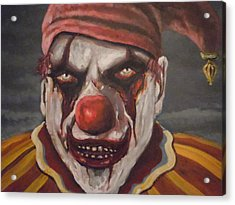 Acrylic Print featuring the painting Meat Clown by James Guentner