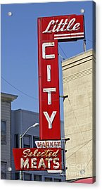 Acrylic Print featuring the photograph Meat Me In The City by Denise Pohl