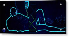 Meausre Of A Man Black Light View Acrylic Print