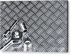 Mechanical Socket Background Acrylic Print by Richard Thomas