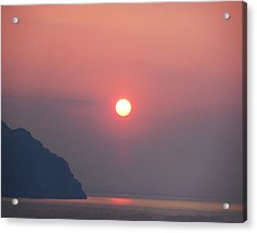 Medaterainian Sunset Acrylic Print by Bill Cannon