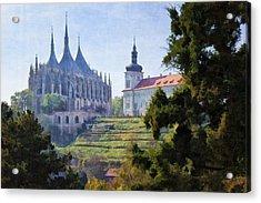 Medieval Acrylic Print by Joan Carroll