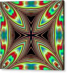 Acrylic Print featuring the digital art Medievil Cross by Mario Carini