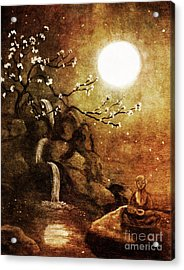 Meditation Beyond Time Acrylic Print by Laura Iverson