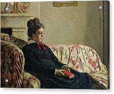 Meditation Acrylic Print by Claude Monet
