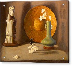Acrylic Print featuring the painting Meditation by Joe Bergholm