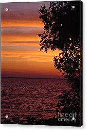 Meditation Sunset Acrylic Print