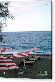 Mediterranean Beach Time  Acrylic Print by Anthony Novembre