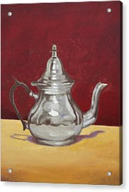 Acrylic Print featuring the painting Mediterranean Silver Kettle by Sam Shacked