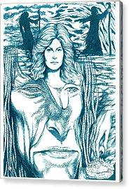 Medusa Lament Acrylic Print by Jamie Jonas