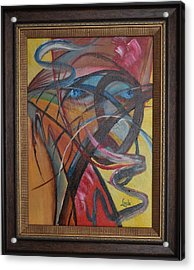 Acrylic Print featuring the painting Medusa by Linda Ferreira