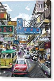 Meet Me At Fu Doo Acrylic Print by Russell Pierce