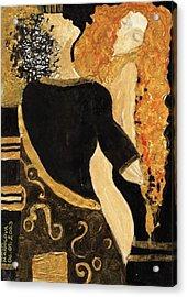 Meeting Gustav Klimt  Acrylic Print