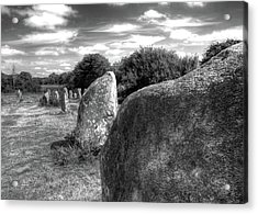 Megalithes In Carnac Acrylic Print by Philwebbphotography