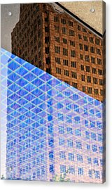 Melancholy In Blue And Brown Acrylic Print by Dean Harte