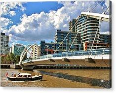 Melbourne Australia City Boat Ride Acrylic Print