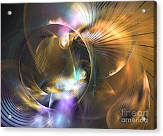 Mellow - Abstract Digital Art Acrylic Print by Sipo Liimatainen