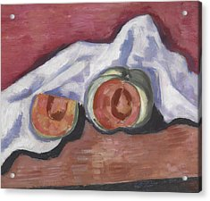 Melons Acrylic Print by Marsden Hartley