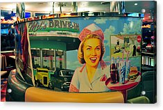Mels Drive In Acrylic Print by David Lee Thompson