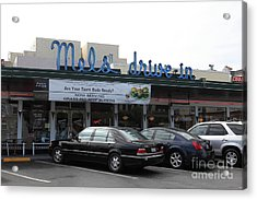 Mel's Drive-in Diner In San Francisco - 5d18012 Acrylic Print by Wingsdomain Art and Photography