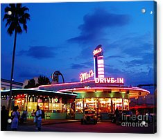 Nostalgia At The Drive In Acrylic Print