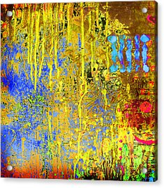 Meltig Yellow Acrylic Print by Lolita Bronzini