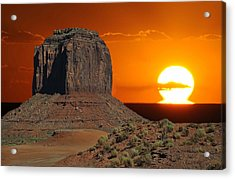 Melting Into The Horizon At Monument Valley National Park Acrylic Print
