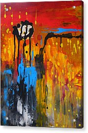 Acrylic Print featuring the painting Melting Point by Everette McMahan jr