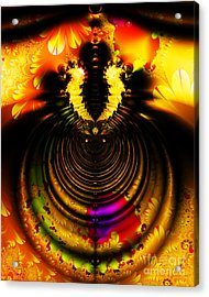 Melting Pot . Gold . S8a.s11 Acrylic Print by Wingsdomain Art and Photography