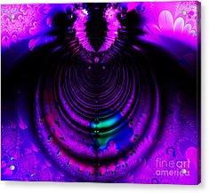 Melting Pot . Horizontal Cut . S8a.s11 Acrylic Print by Wingsdomain Art and Photography