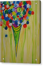 Acrylic Print featuring the painting Melting Shave Ice by Erika Swartzkopf