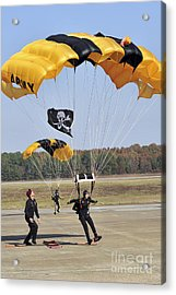 Members Of The Golden Knights Parachute Acrylic Print by Stocktrek Images